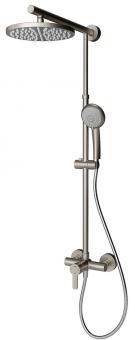 Schulte DuschMaster Rain D9620 mit Duscharmatur Edelstahloptik