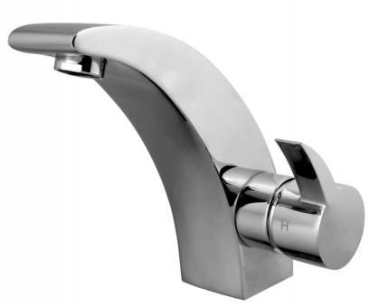 Design Einhand-Waschbeckenarmatur ohne Excentergarnitur