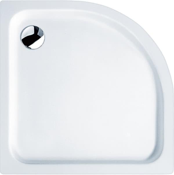 Acryl Viertelkreis-Duschtasse extra flach 90x90x2,5 cm weiß