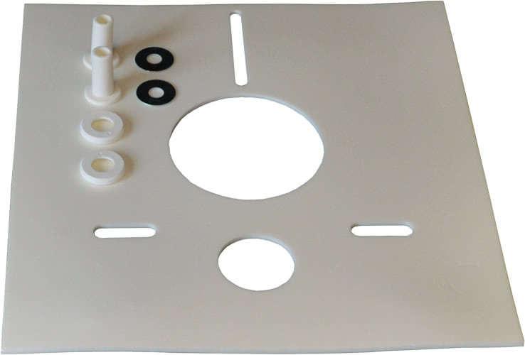 Schalldämmset für Wand-WC eckige Form 390x416x5 mm