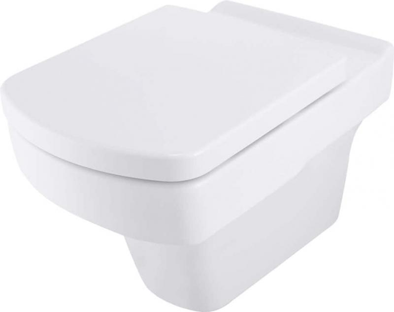 Keramik Wand-Tiefspül-WC Pure eckig antibakteriell ohne/mit WC-Sitz