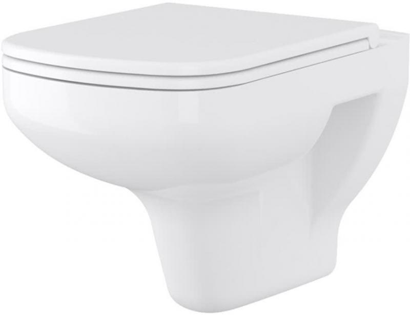 Keramik-WC wandhängend Tiefspüler Harmony eckig