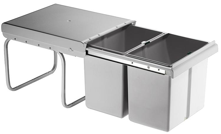 Einbau-Abfallsammler 2x15/1x15 + 2x7,5 Liter