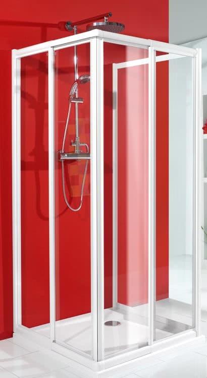 Schulte U-Duschkabine Alexa Eckeinstieg mit Seitenwand Klarglas