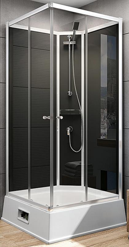 schulte duschkabine fertigdusche korfu ii mit boiler und pumpe. Black Bedroom Furniture Sets. Home Design Ideas