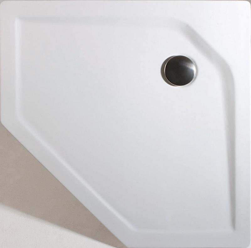 schulte acryl 5 eck duschwanne extra flach alpinwei. Black Bedroom Furniture Sets. Home Design Ideas