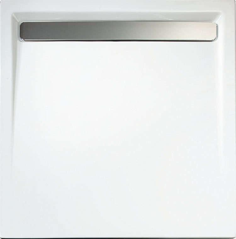 Schulte Acryl Quadrat-Duschwanne alpinweiß mit Rinne 70 mm