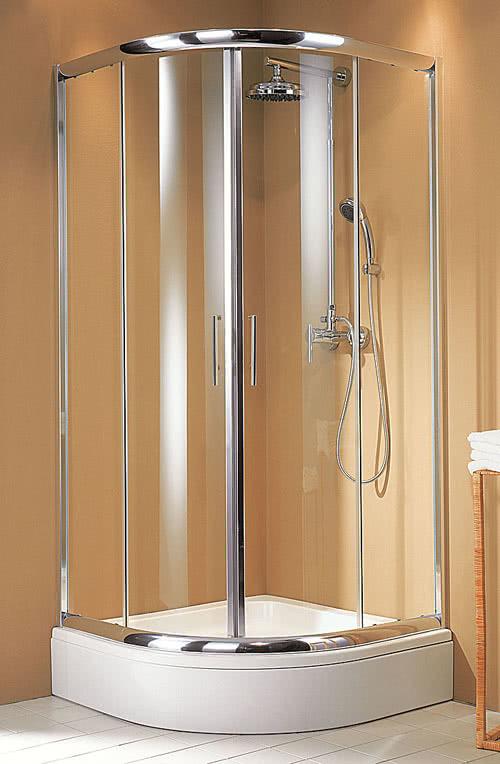 Schulte Kristall/Trend Viertelkreisdusche, Klarglas mit Glassiegel