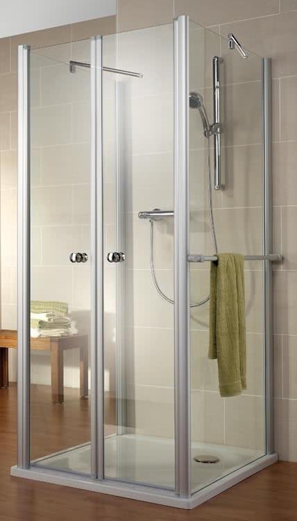 Schulte U-Duschkabine Garant Pendeltür mit 2 Seitenwänden