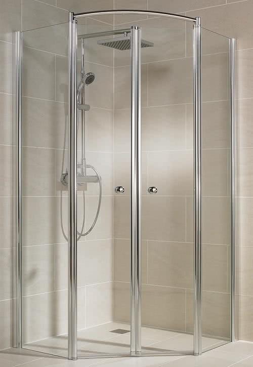 Schulte Garant 5-Eck-Dusche 4-teilig mit Pendeltüren