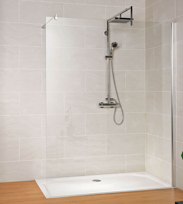Schulte MasterClass Walk-In Dusche M6 Klarglas mit Glassiegel
