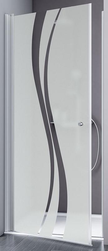 Schulte Alexa Style 2.0 Drehtür in Nische Echtglas Liane mit Glassiegel