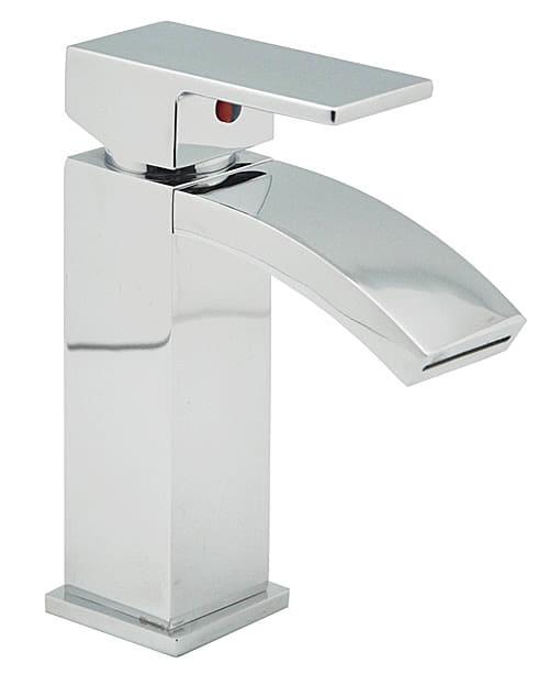 Einhebel-Waschbeckenarmatur mit Schwallauslauf