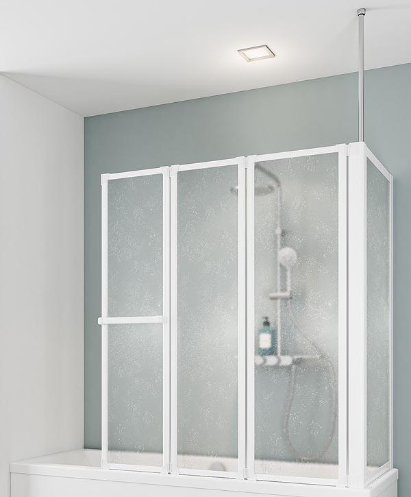 schulte d1511 3 teilig wannenaufsatz mit seitenwand 720 750mm. Black Bedroom Furniture Sets. Home Design Ideas