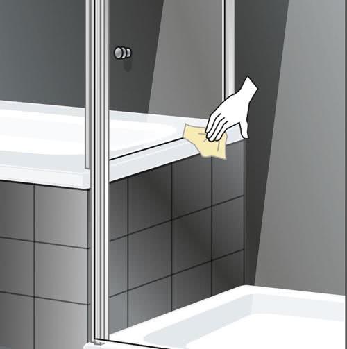 Schulte Duschkabine Sunny mit verkürzter Seitenwand