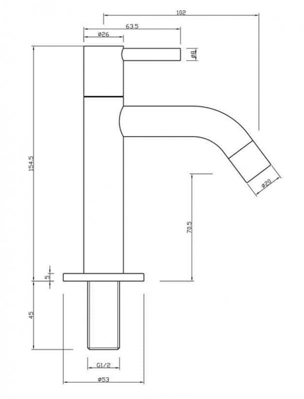 standventil g ste wc armatur chrom. Black Bedroom Furniture Sets. Home Design Ideas