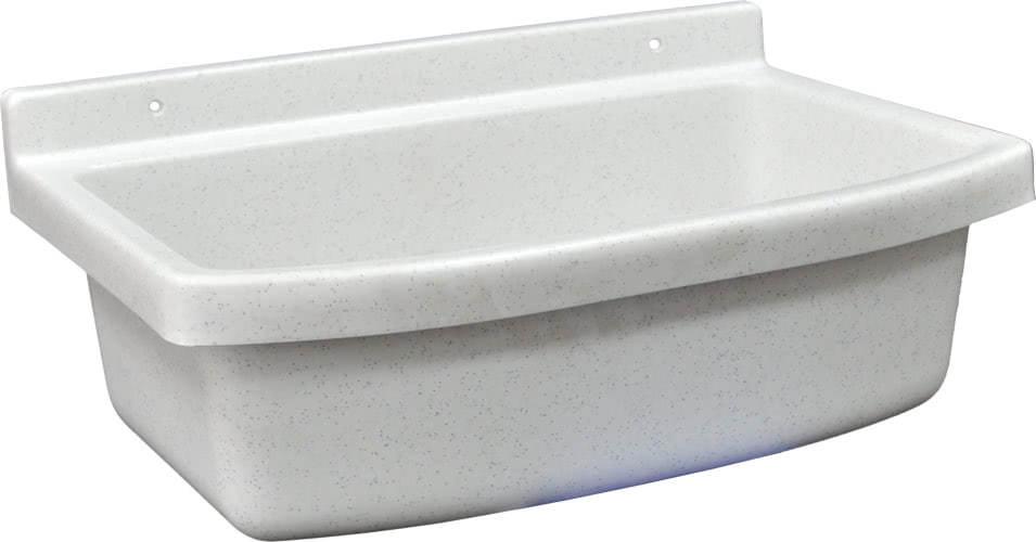 Ausgussbecken-weiss-marmoriertes-Mehrzweckbecken-rechteckige-Form