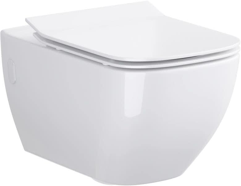 Großartig Wand-Tiefspül-WC Harmony eckig antibakteriell spülrandlos QT16