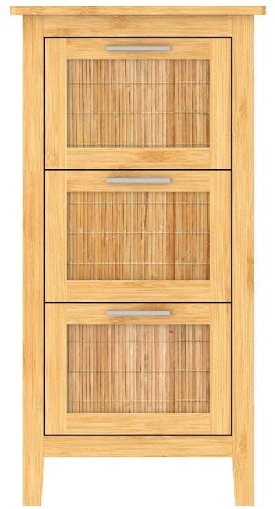Bambus Badezimmer Unterschrank 3 Schubladen 820 mm hoch