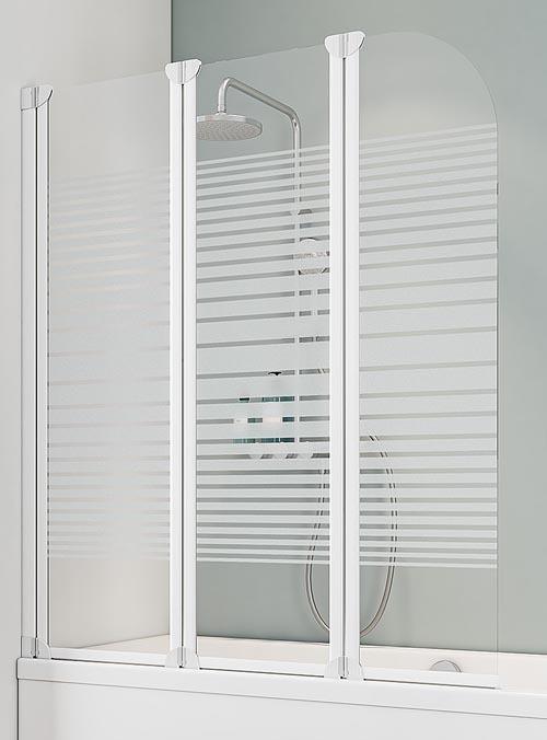 schulte d1654 badewannenaufsatz 3 teilig 1400x1250 mm querstreifen wei. Black Bedroom Furniture Sets. Home Design Ideas