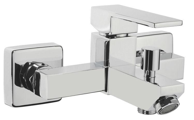 Badarmaturen eckig  Einhebel Badewannenarmatur eckig Serie T25 chrom