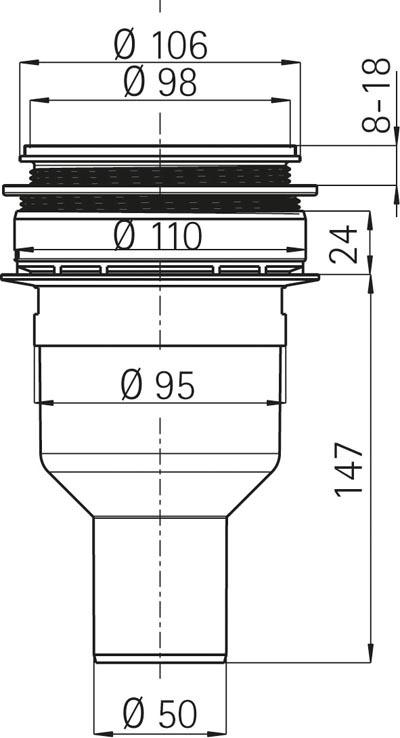 dallmer duschwannen ablauf senkrecht extra flach 90 mm durchmesser. Black Bedroom Furniture Sets. Home Design Ideas