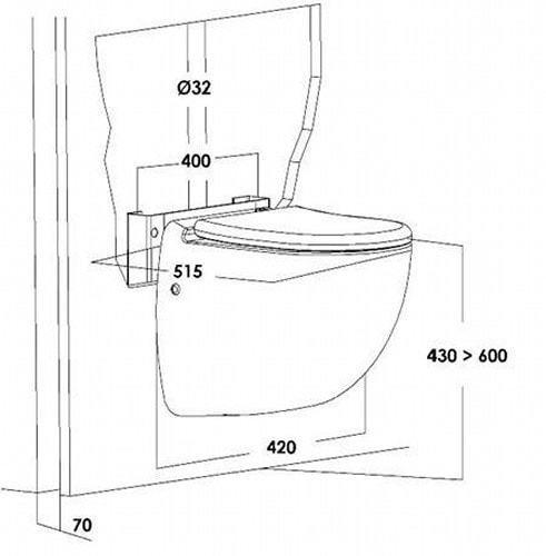 setma h nge wc hebeanlage watersan 7. Black Bedroom Furniture Sets. Home Design Ideas
